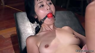 Kidnapped Asian student bdsm banged